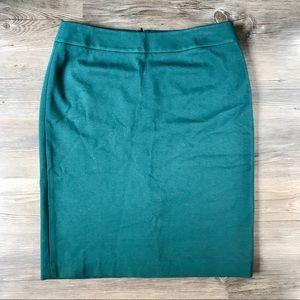 Talbots Stretchy Green Ponte Pencil Skirt Sz 10 V3
